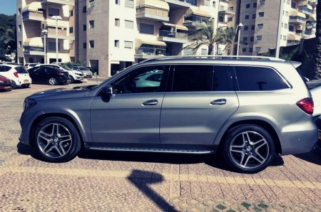 Mercedes GL with driver Israel