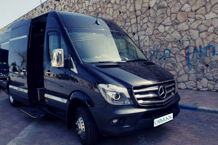 Mercedes Sprinter with driver Israel