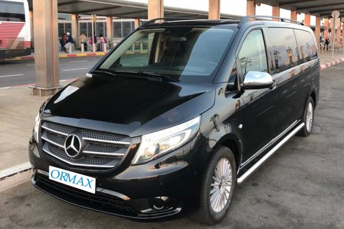 Mercedes V class with driver Israel