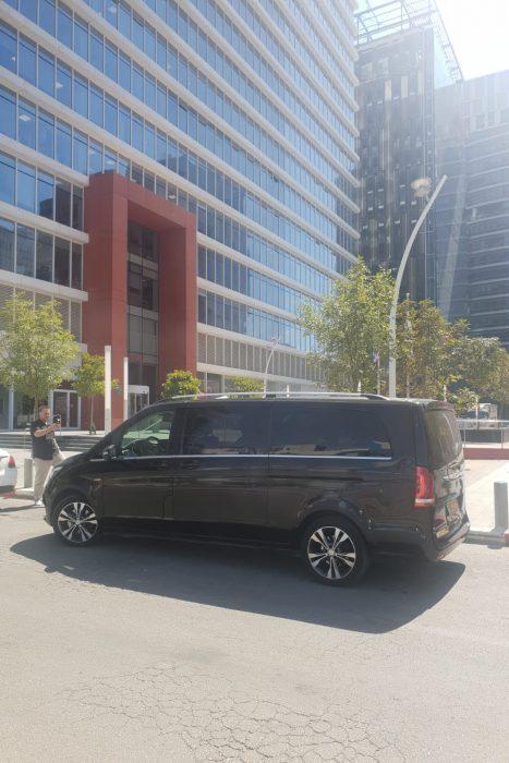 Minivan with driver Israel