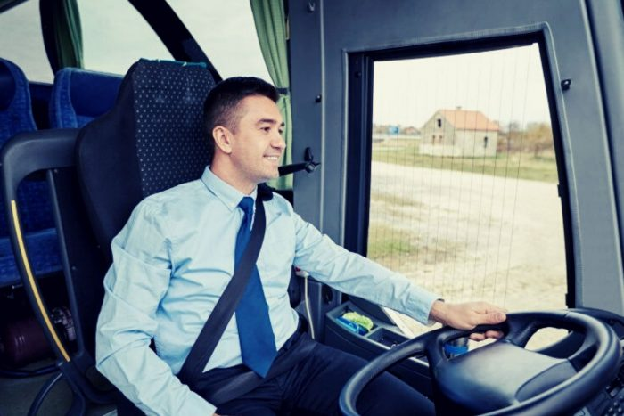 VIP bus with driver Israel